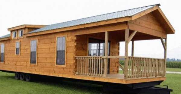 400 Sq Ft Oak Log Cabin On Wheels Must See Interior