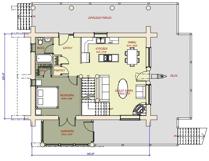 Log cabin plans between 1500 3000 sqft for Apartment floor plans 3000 sq ft