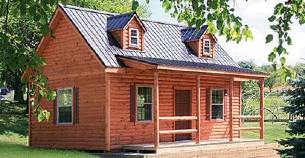 Cape Cod Log Cabin from $73,000 View Floor Plans Here