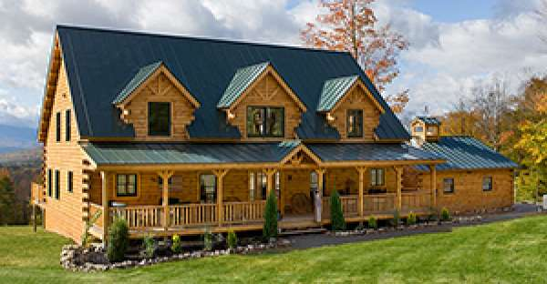 Log house construction diy
