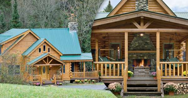 Whats not to love about these elegant and classic log homes for Elegant log homes