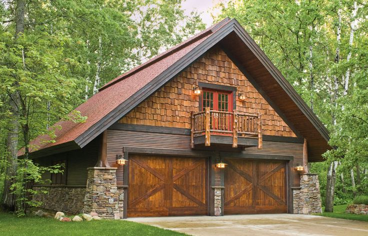 Rustic garage designs for Log cabin garage plans
