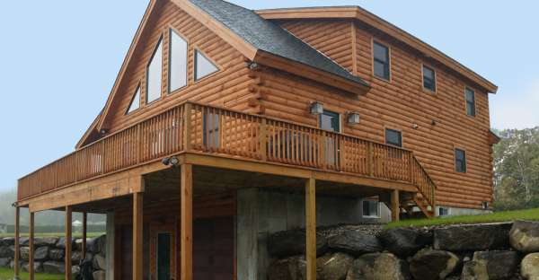 55 200 pre cut log house shell this is the hillside log home Pre cut homes
