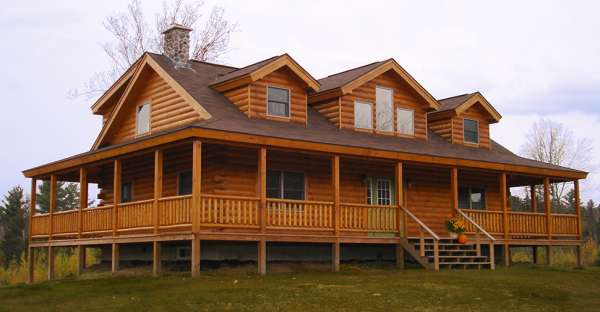 59 600 pre cut log house shell this is the ledgewood log Pre cut homes