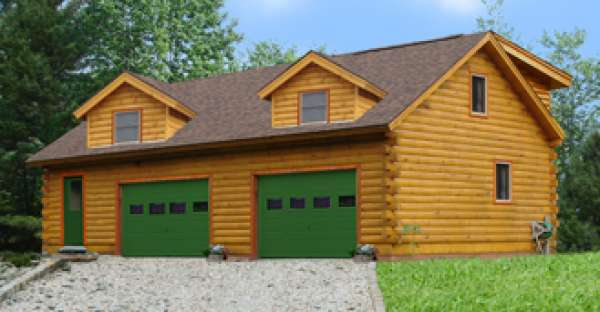 37 800 pre cut log house shell this is the garage for Pre cut homes