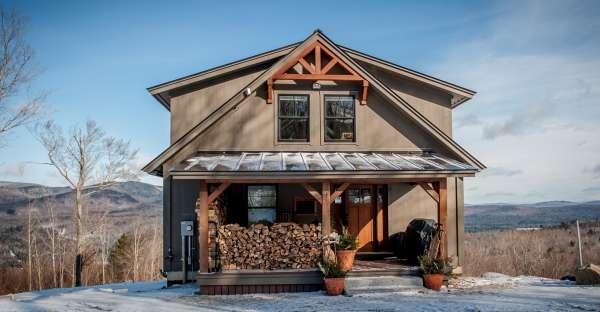 moose ridge lodge. small post and beam home, big appeal!