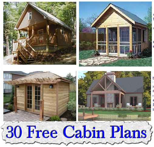 30 fantastic free small cabin plans
