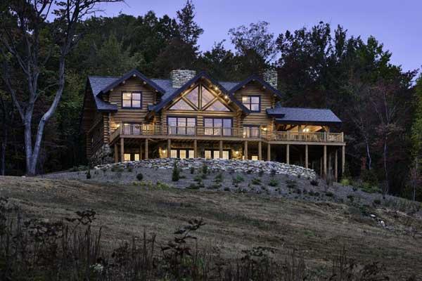 A Log Home In Shenandoah
